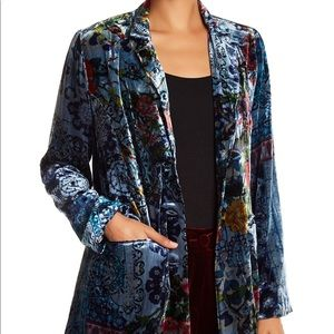 Johnny Was Crushed Velvet & Silk Blazer